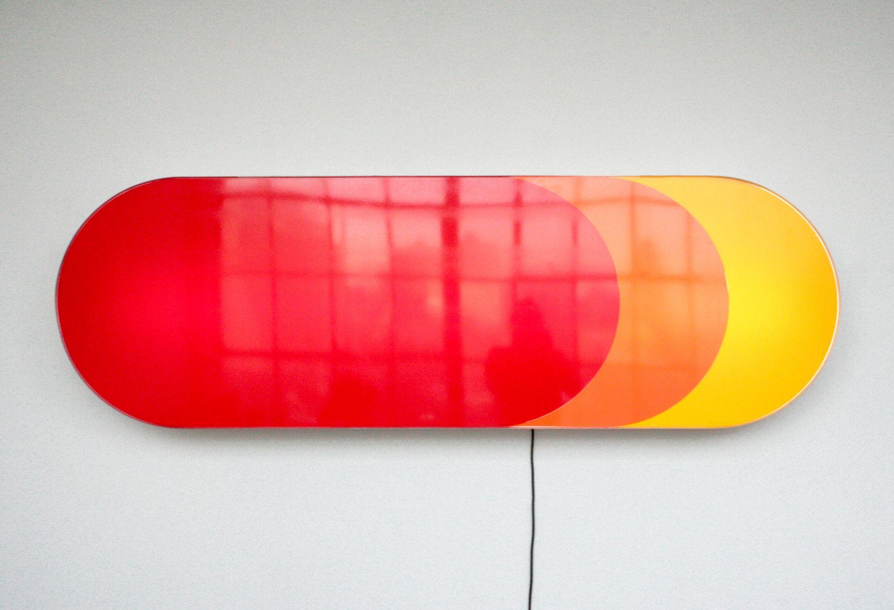Daniel Pflumm  Untitled (A&P), 2005  Lightbox  77 1/2 x 25 x 6 1/2 inches (196.9 x 63.5 x 16.5 cm)