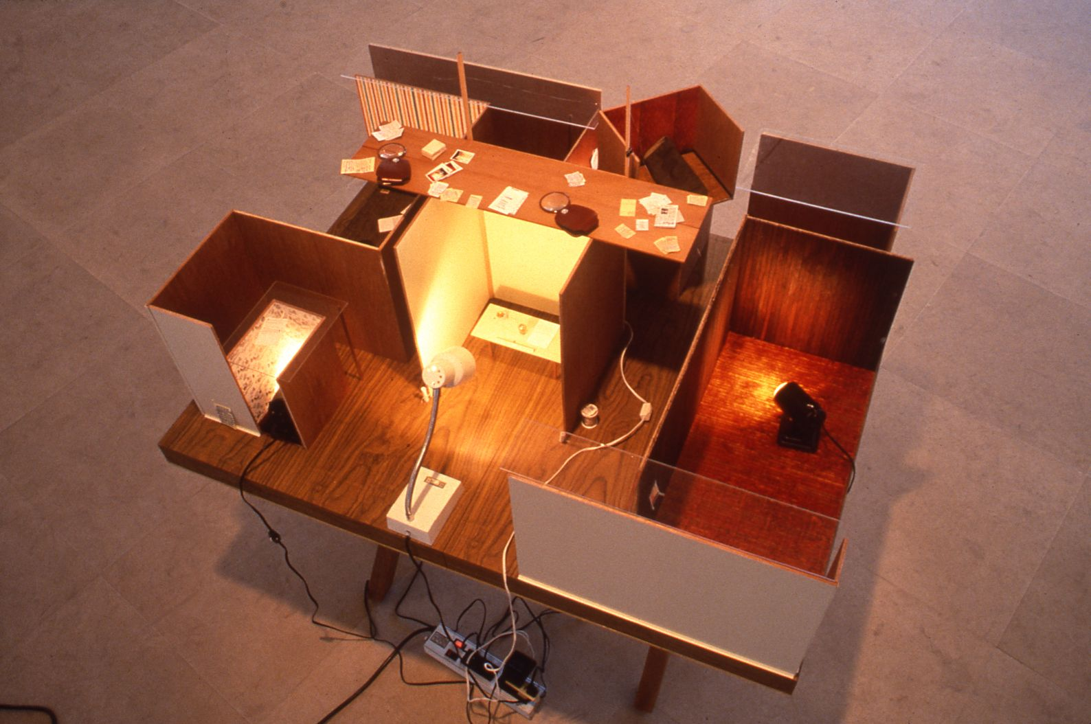 Julie Becker, Postersize Copy Machine, 1996, Mixed media, 36 x 48 x 51 1/2 inches