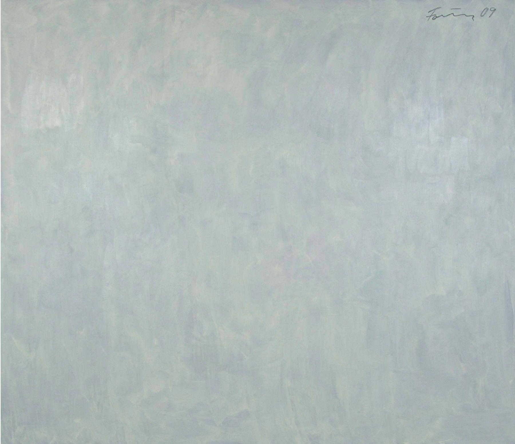 Günther Förg  Untitled, 2009 Acrylic on canvas  76 3/4 x 88 5/8 inches (194.9 x 225.1 cm)