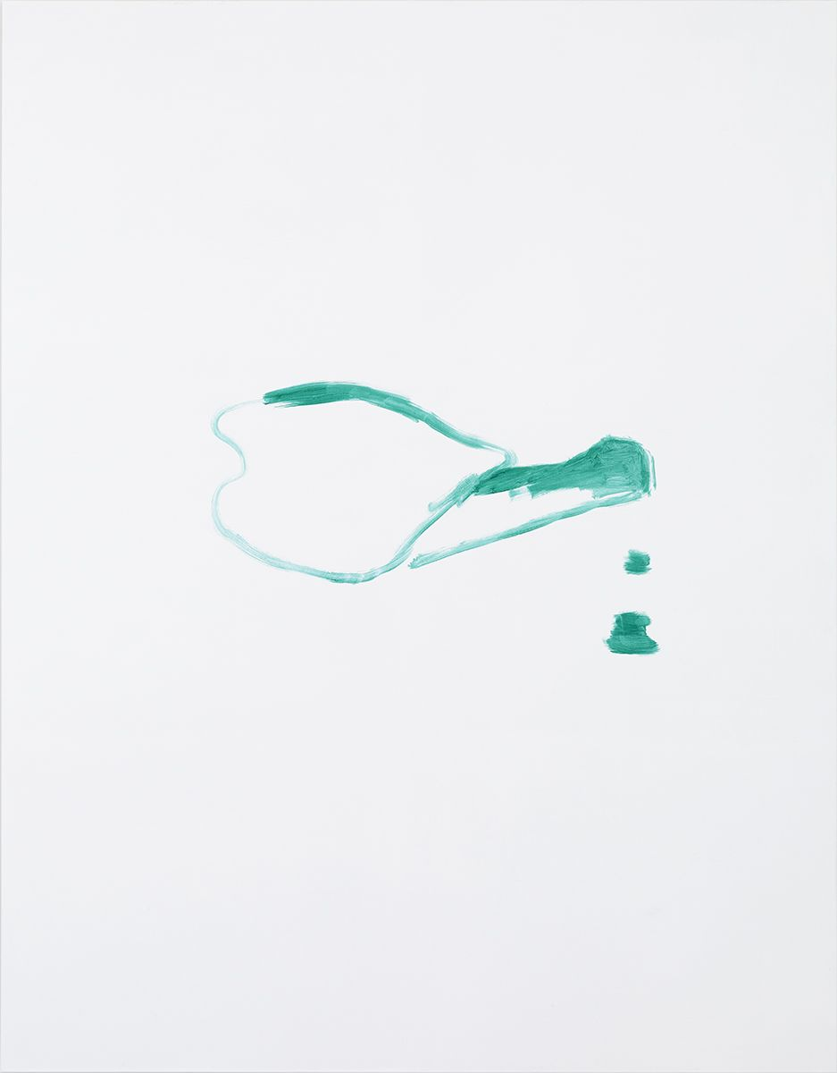 Michael Krebber MK.309, 2015 Acrylic on canvas  86 5/8 x 66 7/8 inches (220 x 169.9 cm)