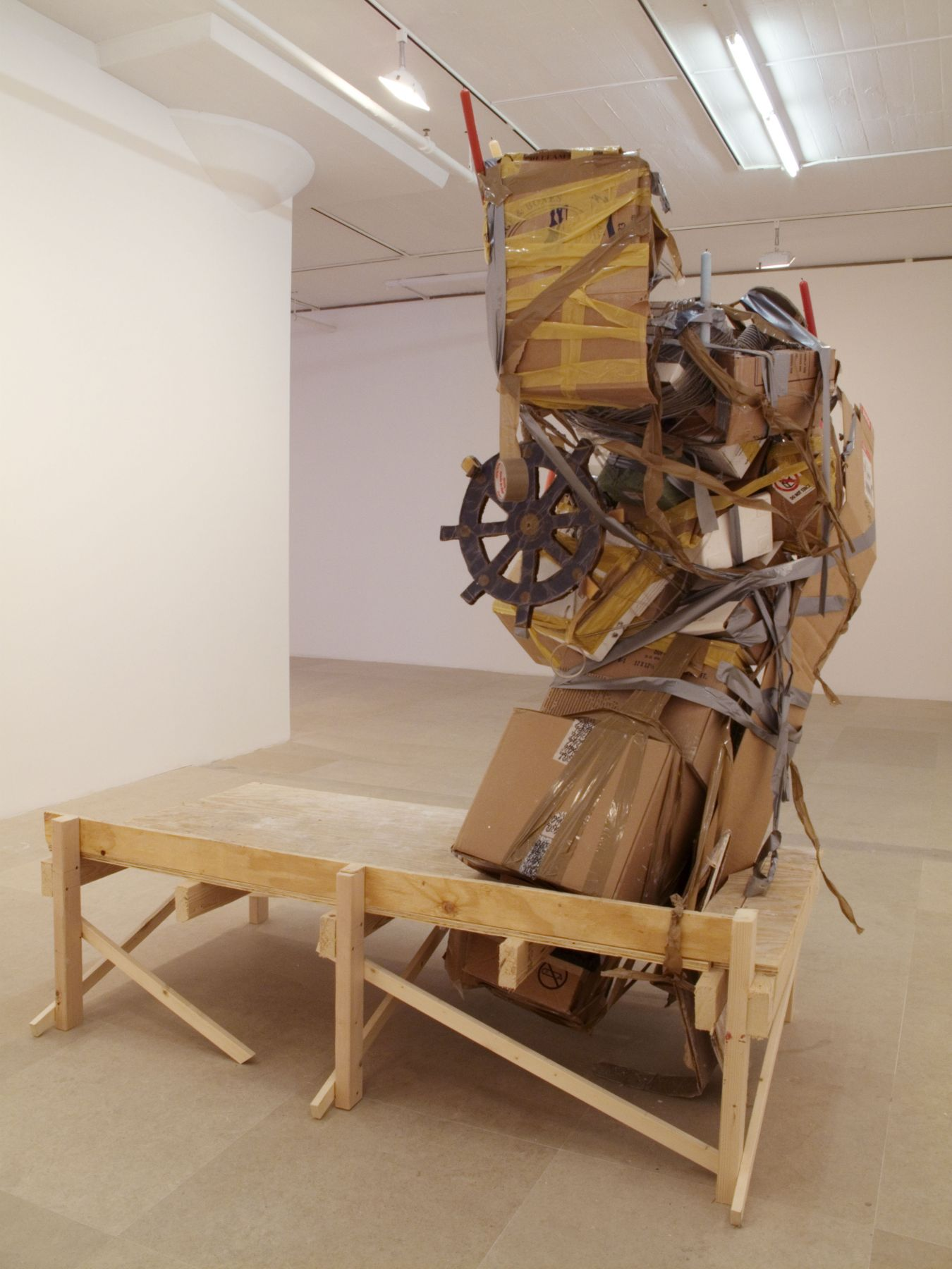 Untitled, 2010, mixed media, 87 x 75 x 57 inches
