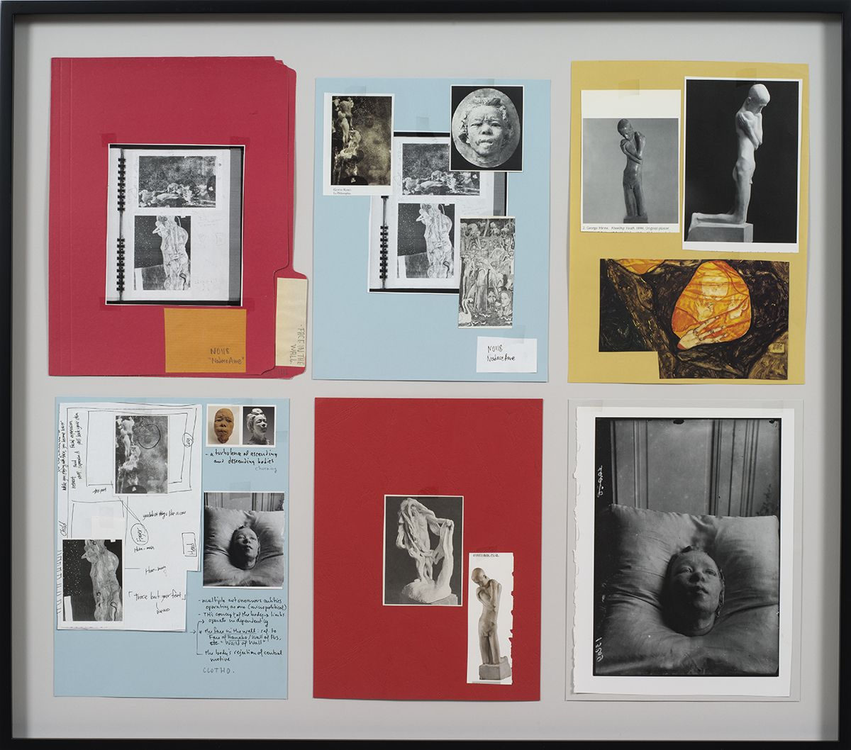 Ankoku 37 (Resource folder: Face in the wall (Hanako), 2012, Collage, 27 1/4 x 31 x 1 1/2 inches (69.2 x 78.7 x 3.8 cm)
