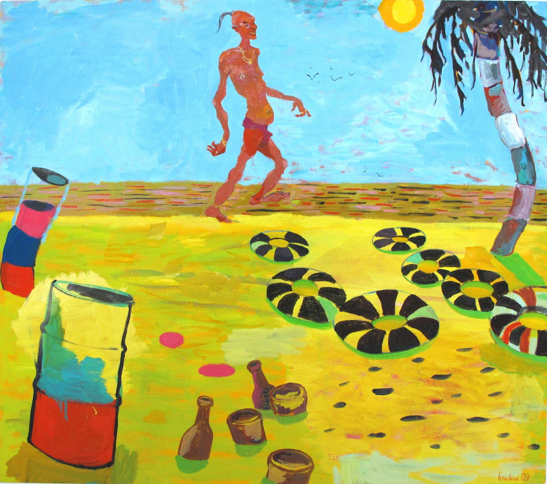 Herr Ledermann, Ex-pat., 2009, oil on linen