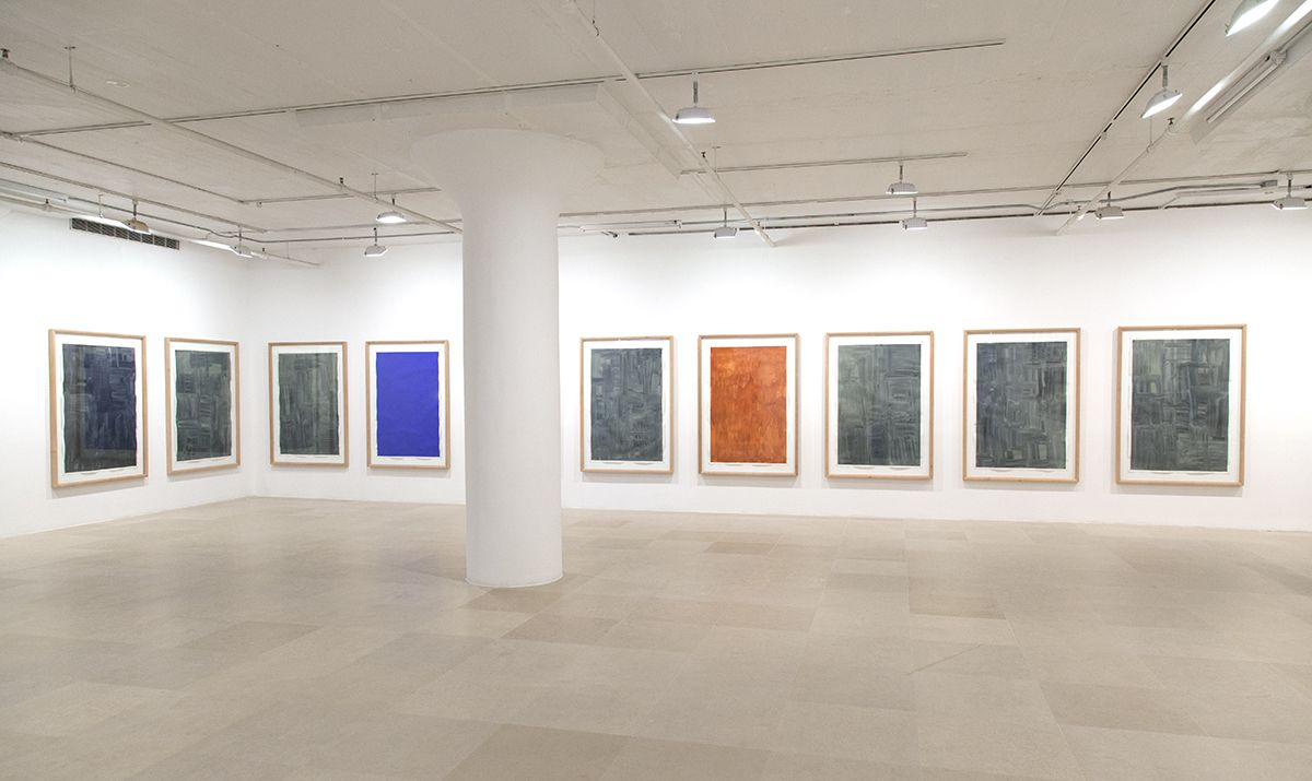 Günther Förg, Installation view, Works On Paper: 1976 - 2008, Greene Naftali, New York, 2016
