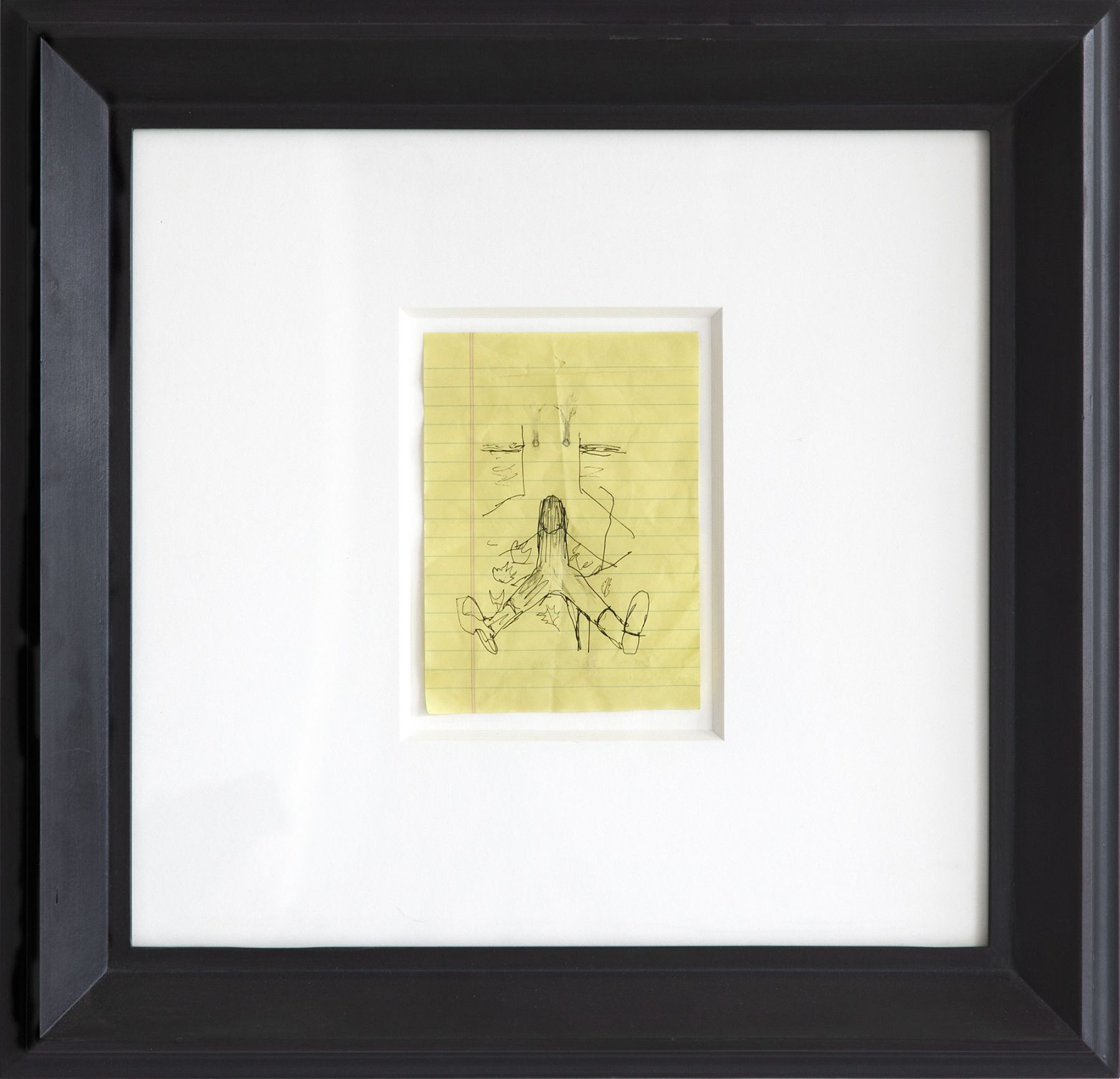 Robert Gober Untitled Study, 2005-2006 Ink and graphite on paper Paper: 7 x 5 inches (17.8 x 12.7 cm) Frame: 19 1/2 x 20 1/4 inches (49.5 x 51.4 cm)