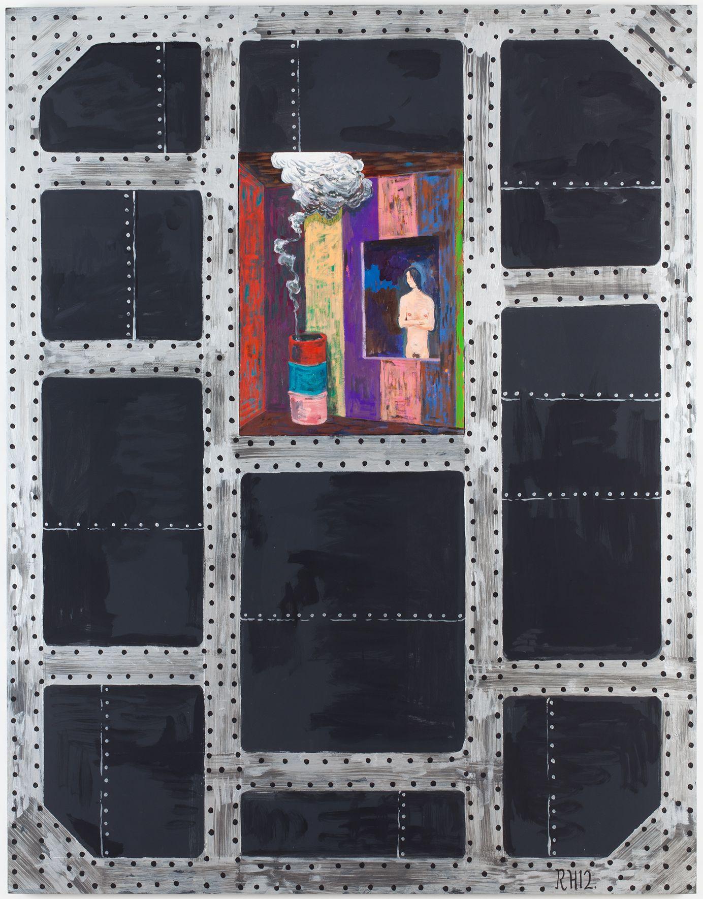Richard Hawkins Brig #1: A coy fish, 2012 Oil on canvas and acrylic on panel 63 x 49 x 1 5/8 inches 160 x 124.5 x 4.1 cm