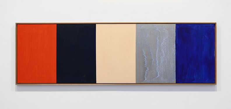 Untitled, 1989 Acrylic on wood 24 3/4 x 80 inches