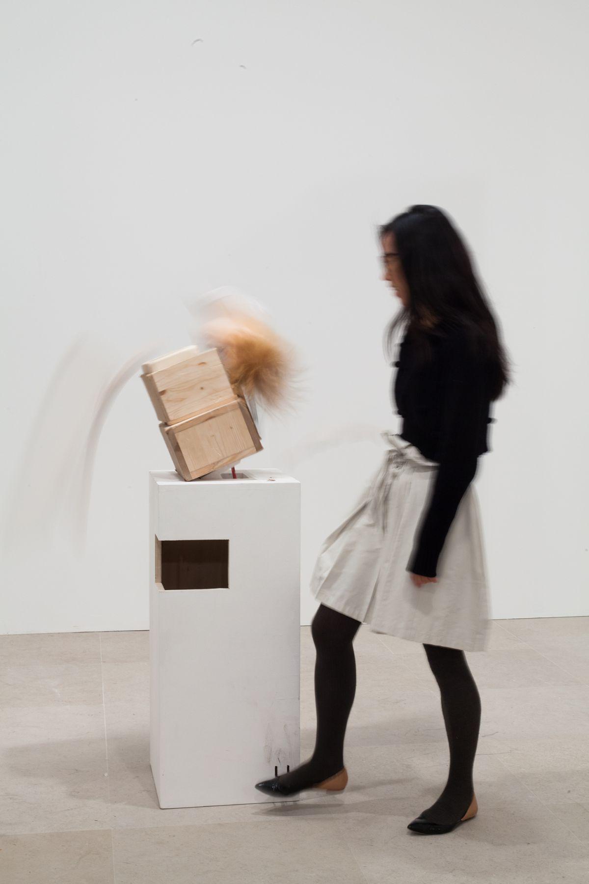 Gelitin, Latte Macchiato, 2012, Mixed media, 77 1/4 x 16 x 18 1/2 inches