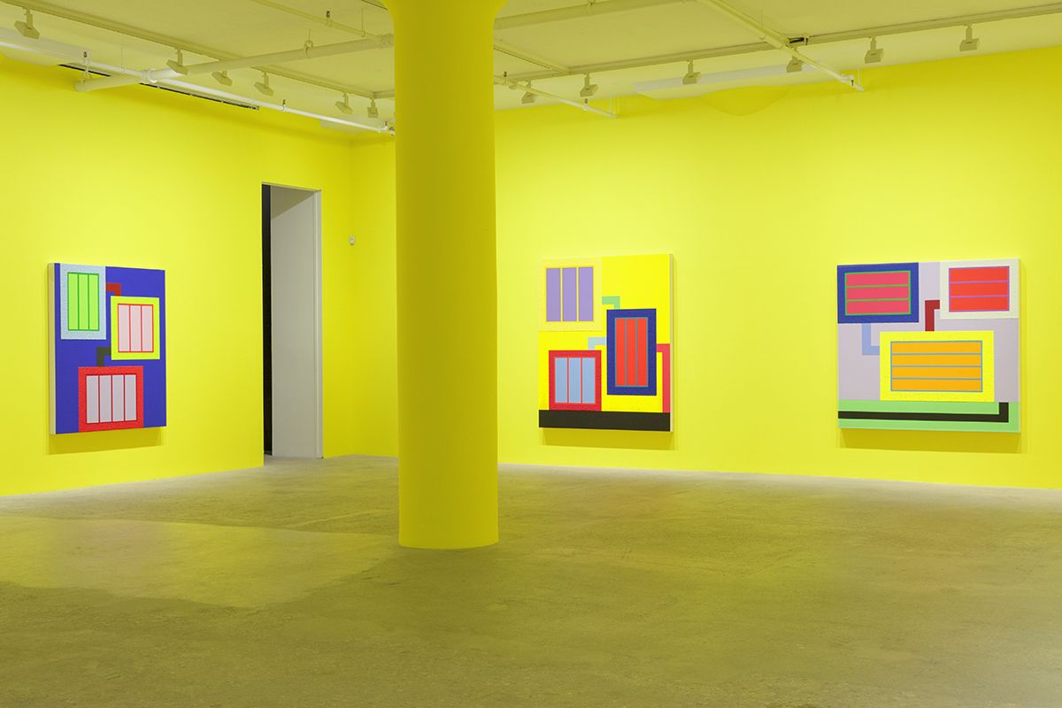 Peter Halley, Installation view, Greene Naftali, New York, 2017