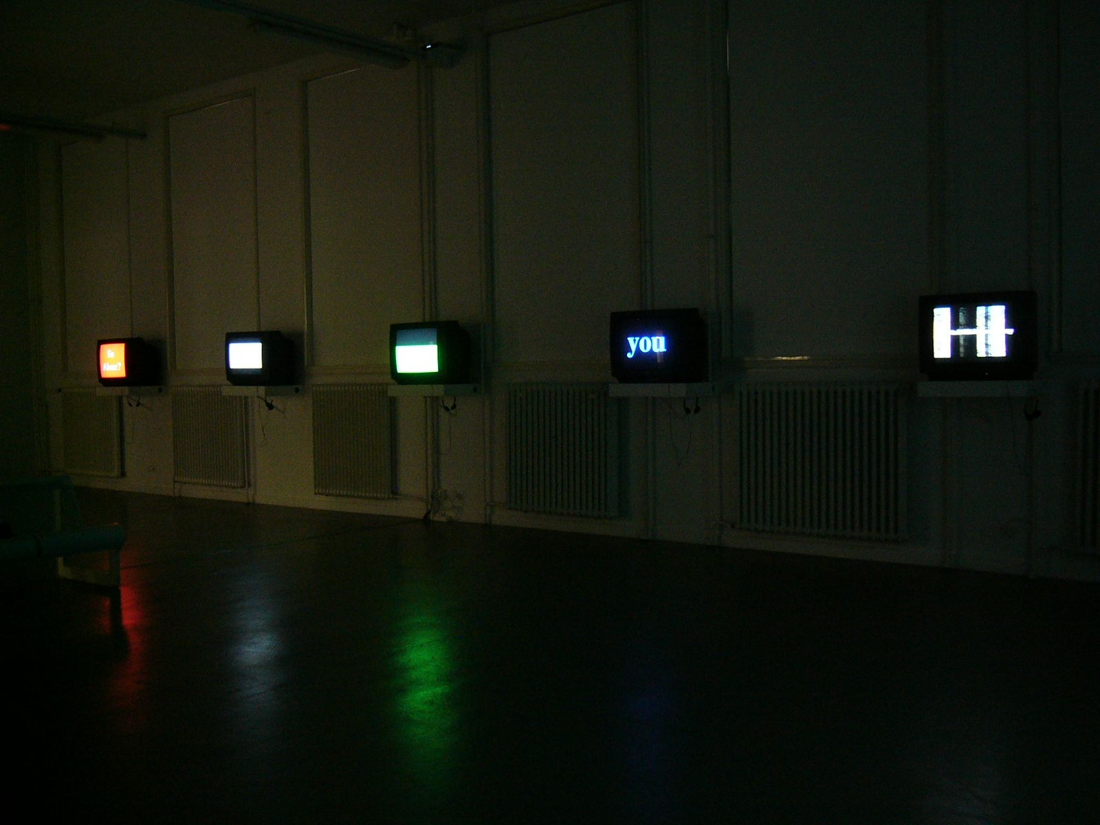 Installation view, Pop Manifestos in MurMur, curated by Edwin Carels, TENT, Rotterdam, The Netherlands, 2005