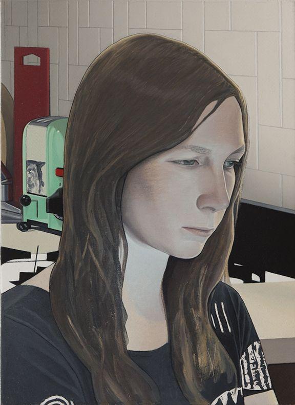 FREAK OUT, Caleb Considine, Annie 3, 2013, Oil on canvas, 15 x 11 inches