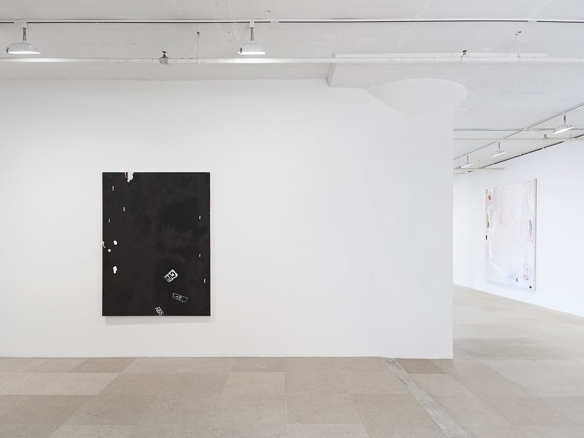 Monika Baer, Installation view, on hold, Greene Naftali, New York, 2015