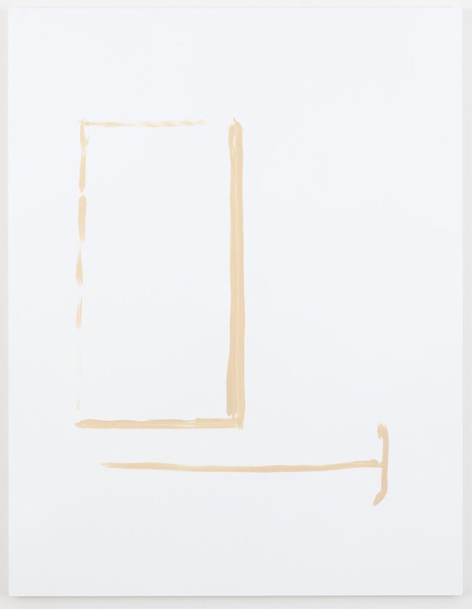 Michael Krebber Herbes de Provence MK.6077, 2018 Acrylic on canvas 70 x 54 inches (177.8 x 137.2 cm) (MK.6077)