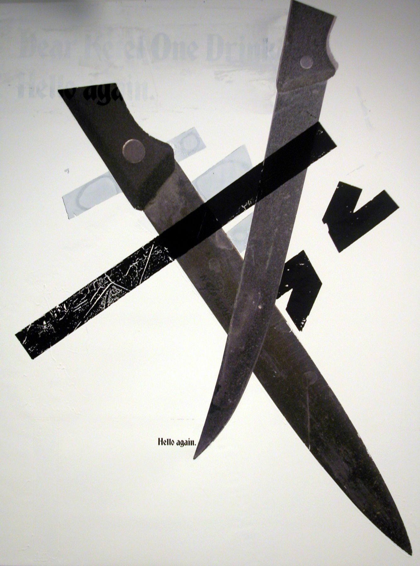 Untitled (Ketel I), 2005,  silkscreen and inkjet on canvas,  48 x 36 inches