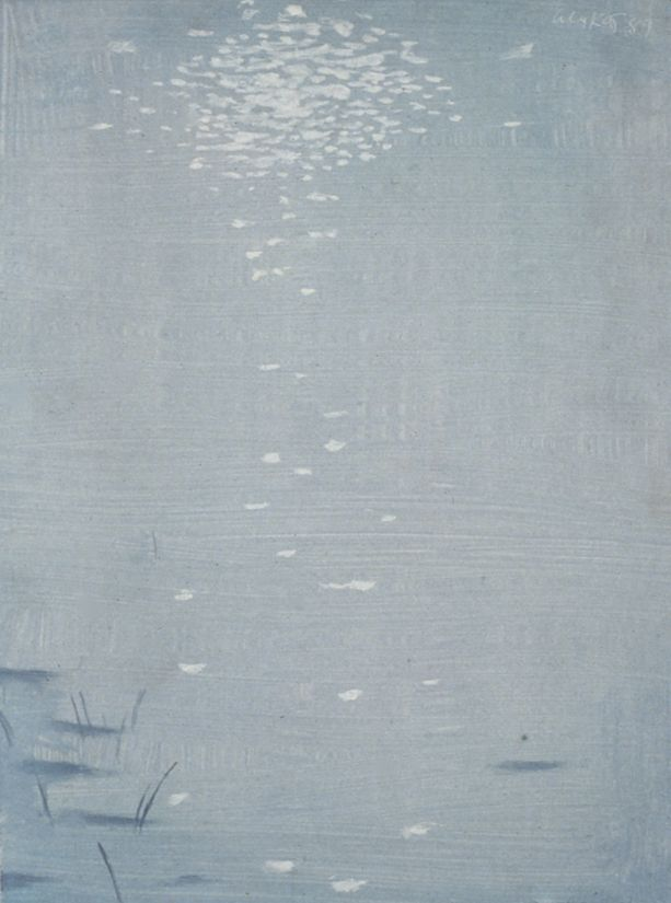 Sunlight, 1989, oil on board, 12 x 9 inches
