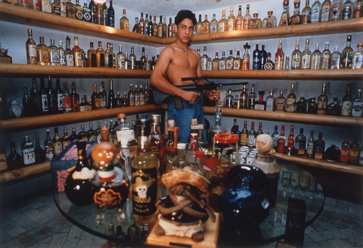 Daniela Rossell, Untitled (Emiliano's Tequila Collection), 1997, cibachrome, 11 x 16 inches, edition of 5