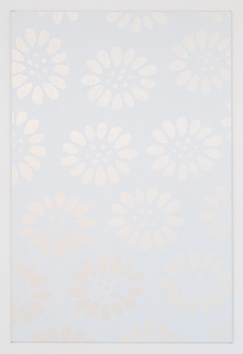 Daan van Golden Marguerite (white), 2016 Japanese lacquer on canvas  47 1/2 x 31 1/2 inches (120.6 x 80 cm)