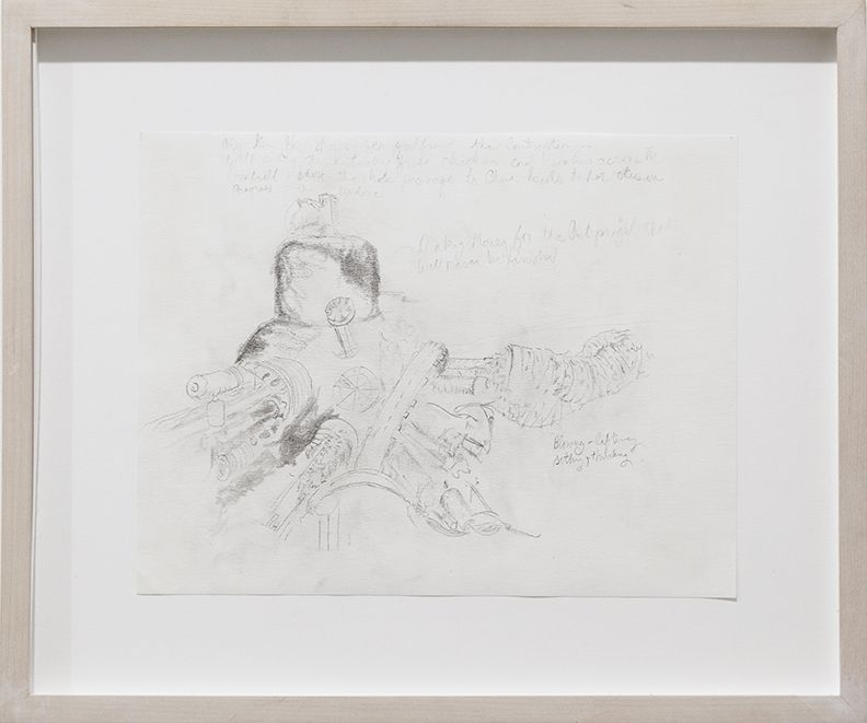 "Julie Becker, Untitled (""Making money for the art project that will never be finished""), 2002, Pencil on paper, 9 x 11 inches"