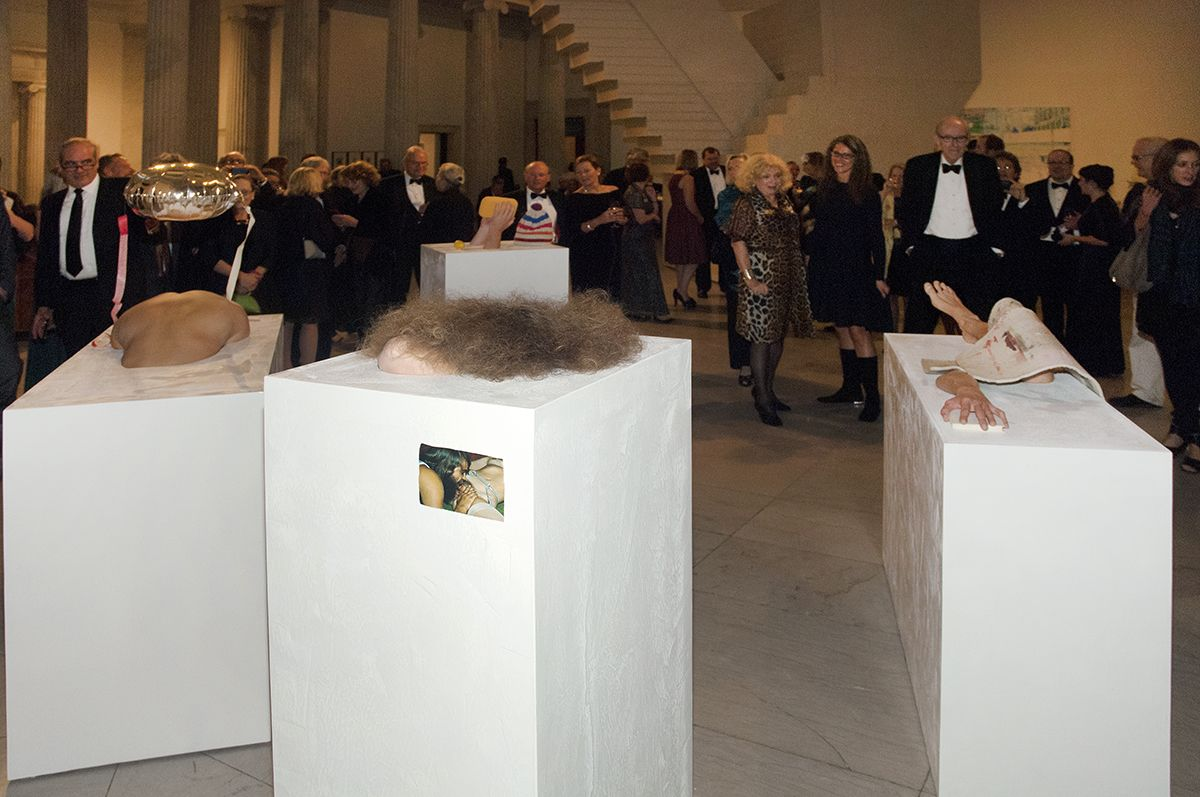 Gelitin, Performance view,Decade: Contemporary Collecting 2002-2012, Albright-Knox Gallery, Buffalo, 2012