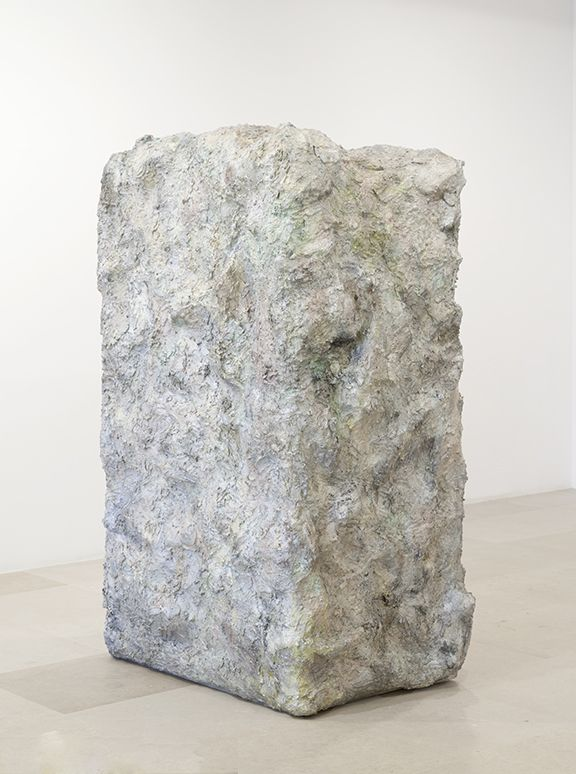 Rachel Harrison, The Nineties, 2011, Wood, chicken wire, cement, acrylic, and water cooler, 80 x 52 x 39 inches