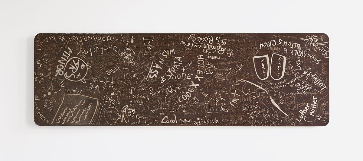 Paul Chan, Etched table large, 2012