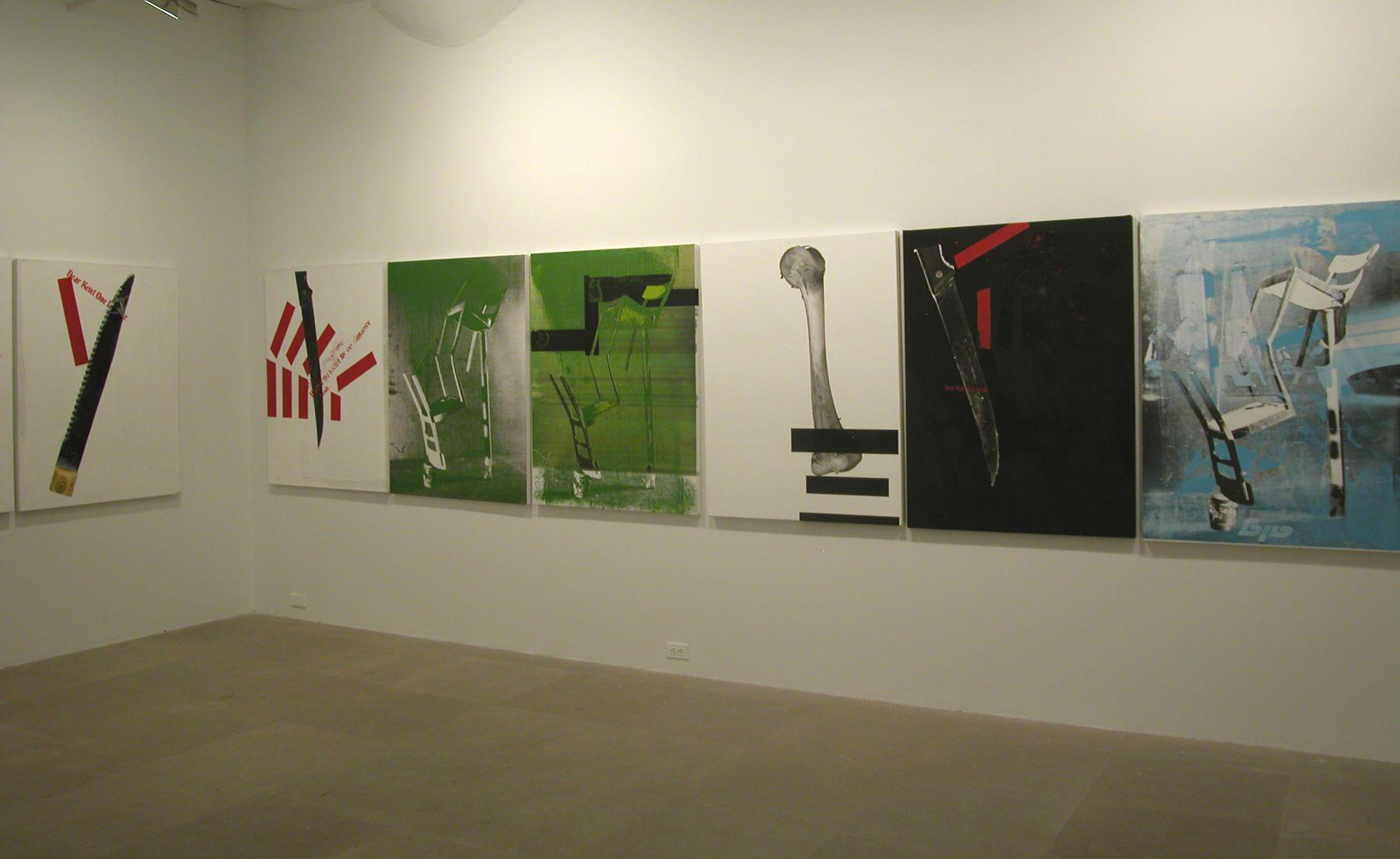 Installation view, The Failever of Judgement Part III,  Greene Naftali, New York, 2005