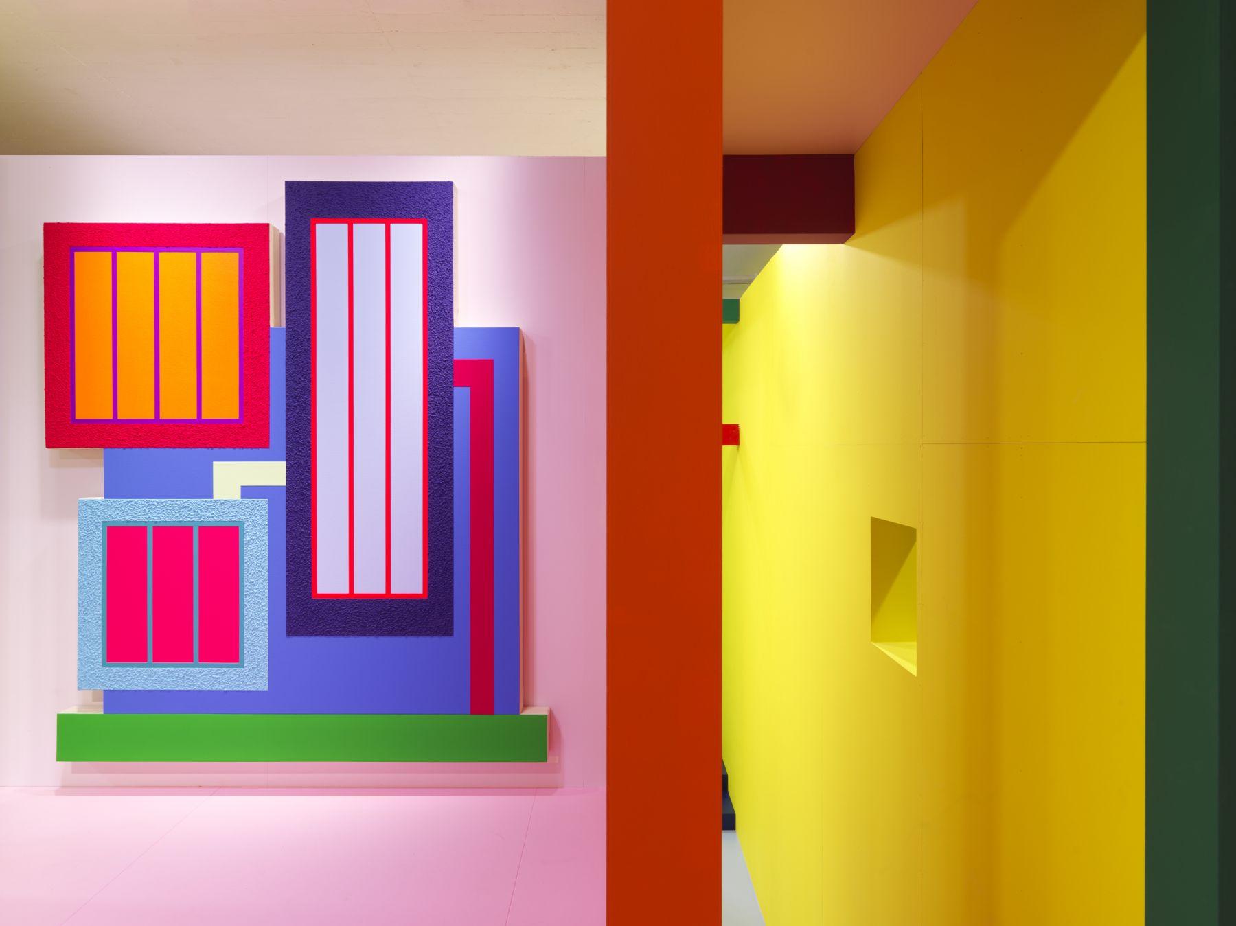 Peter Halley,Installationview,Heterotopia II,Greene Naftali, New York, 2019