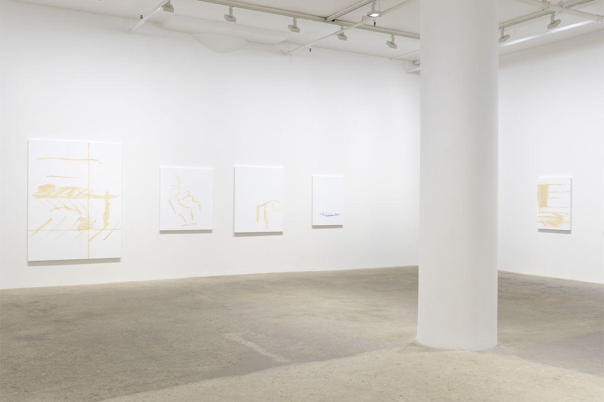 Michael Krebber, Installation view, Greene Naftali, 2018