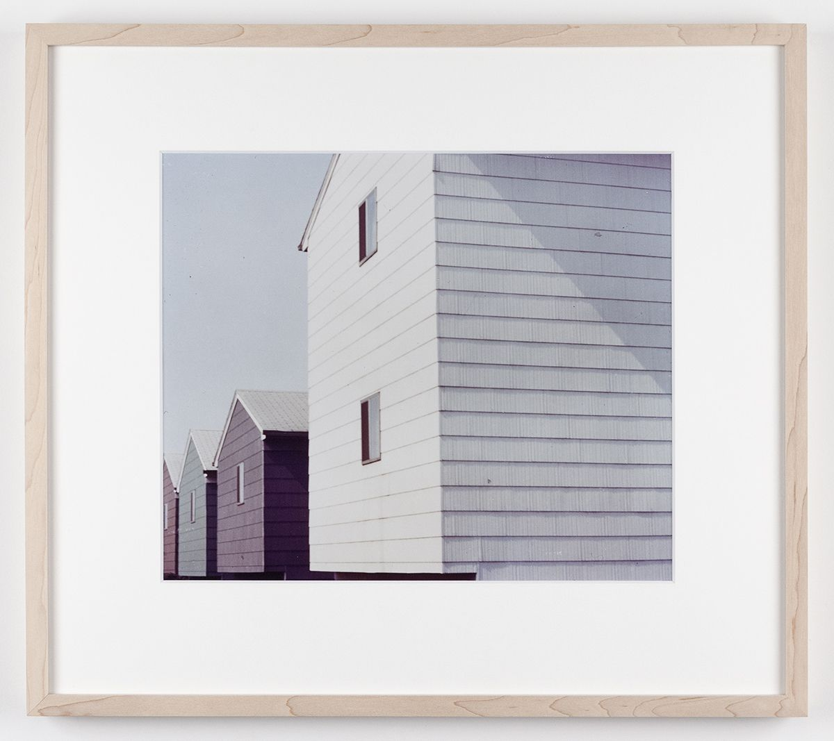 Dan Graham Tract Houses, Bayonne, New Jersey, 1966 C-print Framed: 17 1/4 x 19 1/4 inches (43.8 x 48.9 cm)
