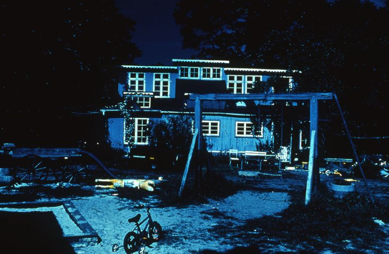 Day for Night, Christiania (Children's Field/The Gunpowder House), 1996, c-print, 26 x 38 1/2 inches, edition of 5