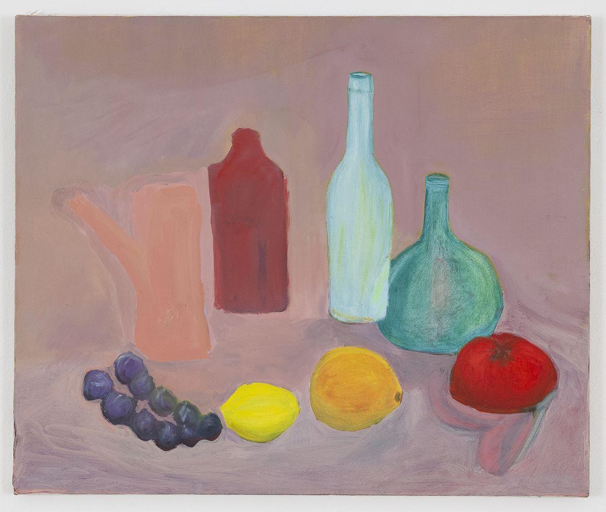 Gedi Sibony, Still Life (Bottles and Fruit), 2017