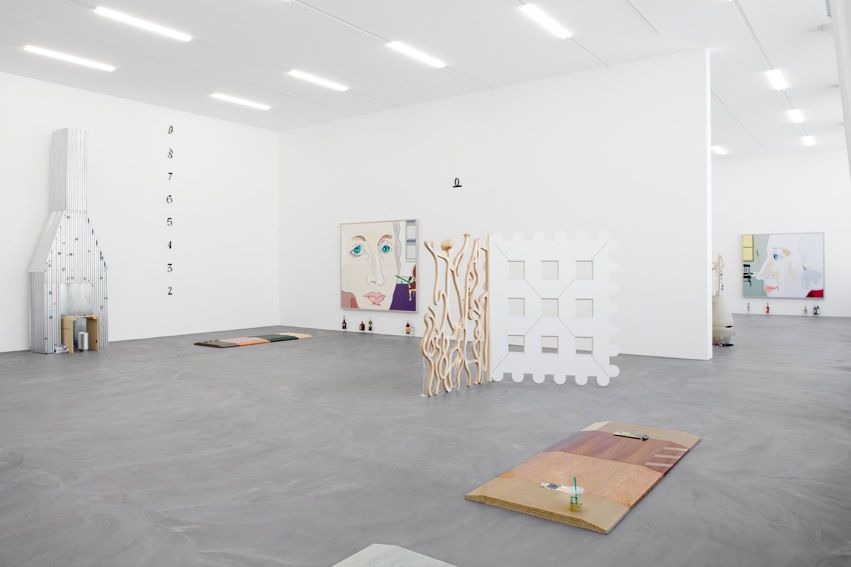 Helen Marten, Installation view, Almost the exact shape of Florida, Kunsthalle Zürich, 2012