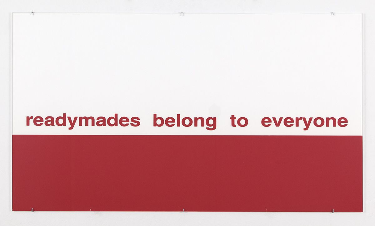 Alain Clairet  Untitled, 1987  Screenprint on paper and title card  31 1/4 x 55 1/2 inches (79.4 x 141 cm)