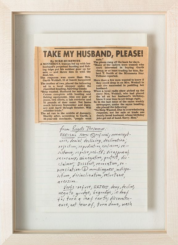 Candy Jernigan,Rejection, 1983 (detail)