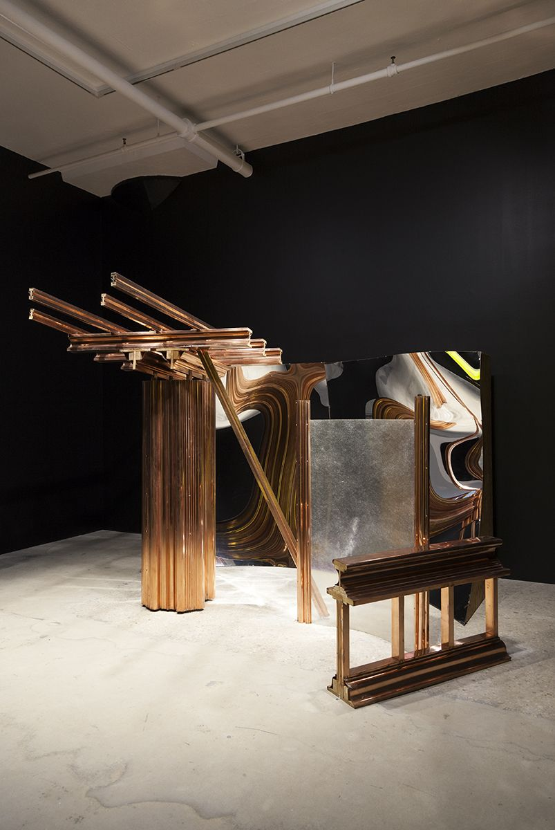 Robert Morris, Untitled, 1978 Mirror, plastic and copper 108 x 216 x 156 inches (274.3 x 548.6 x 396.2 cm)