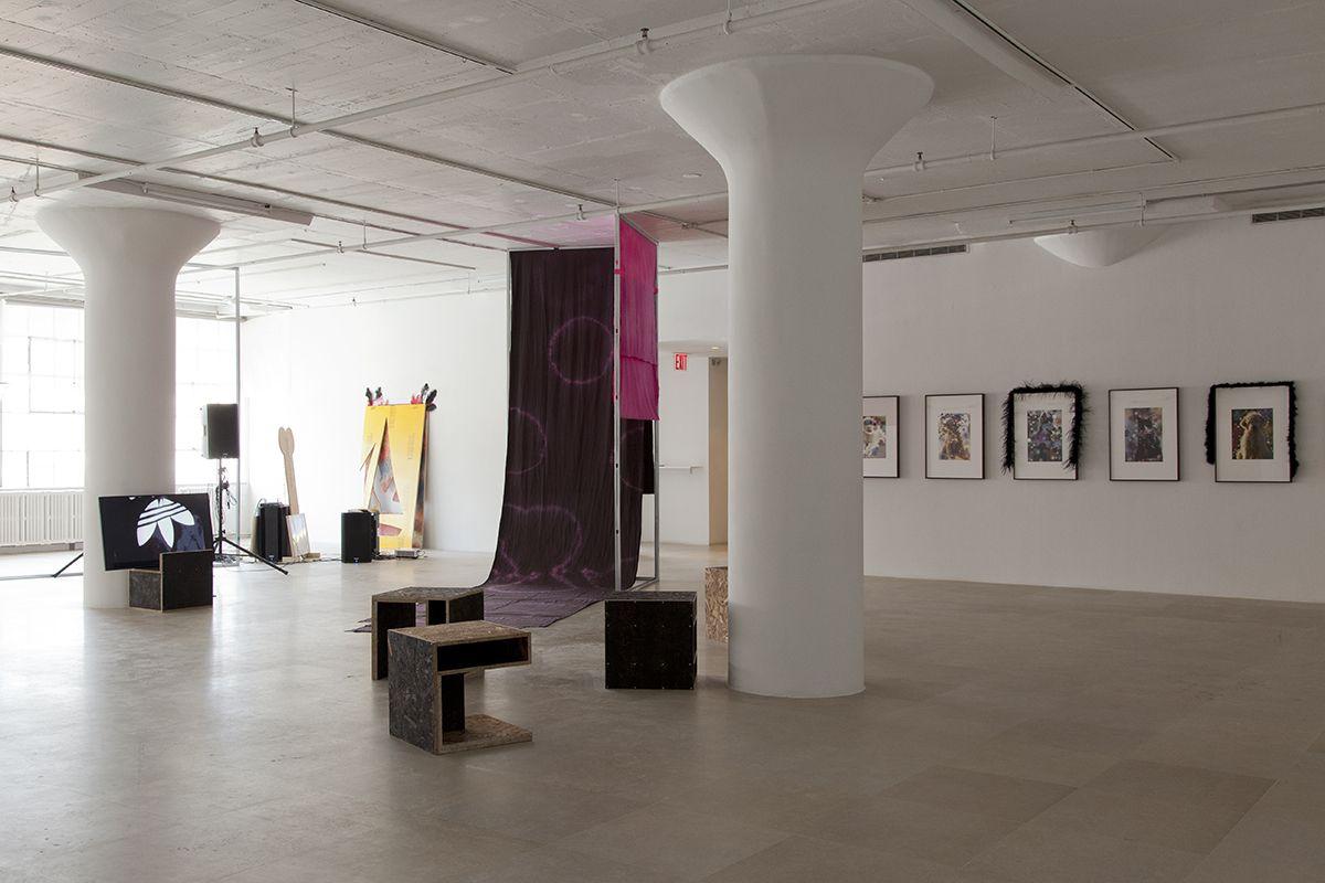Hilary Lloyd, Installation view,Dock Lands, Greene Naftali, New York, 2017