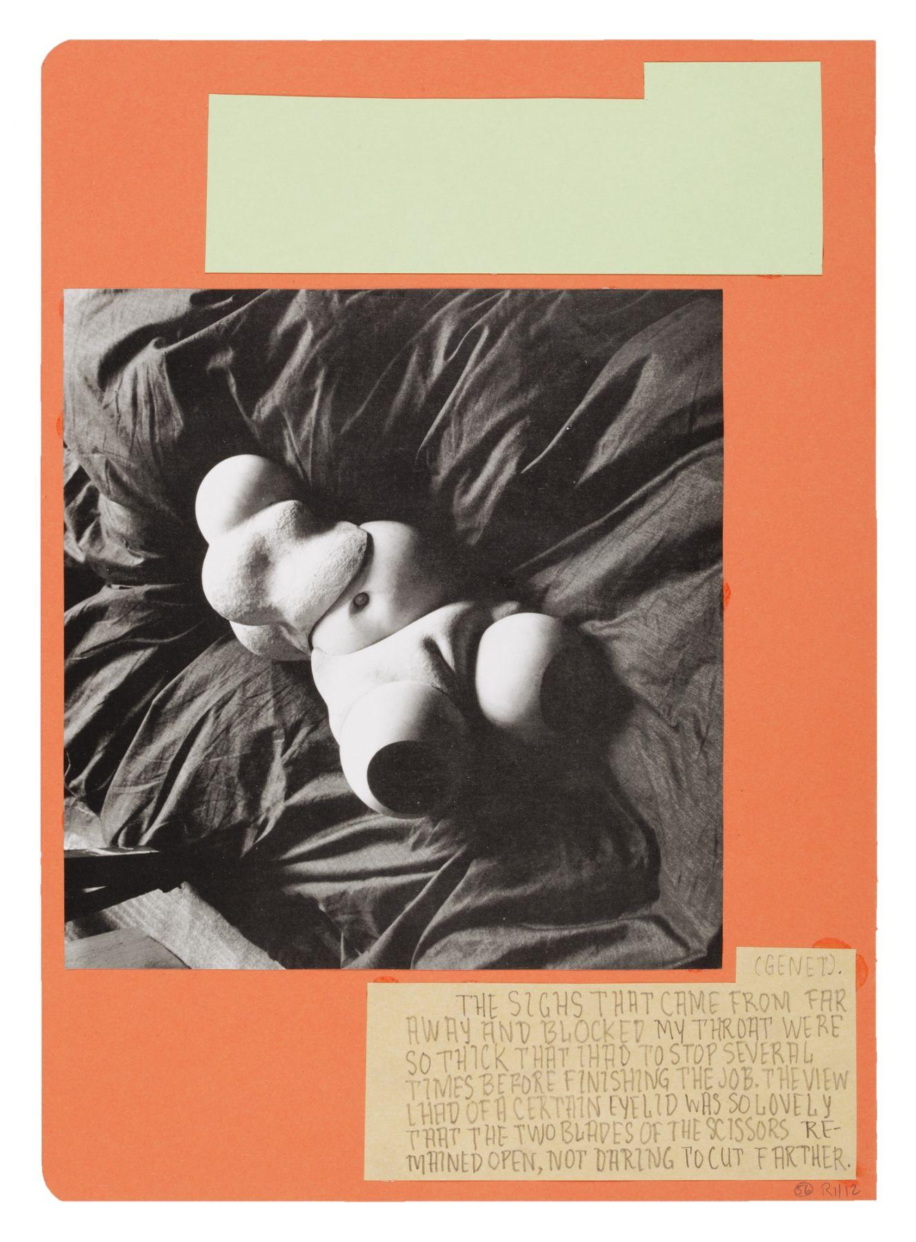 Richard Hawkins  Ankoku 56 (Disbellmered), 2012  Collage  18 1/8 x 14 1/2 x 1 inches (46 x 36.8 x 2.5 cm)