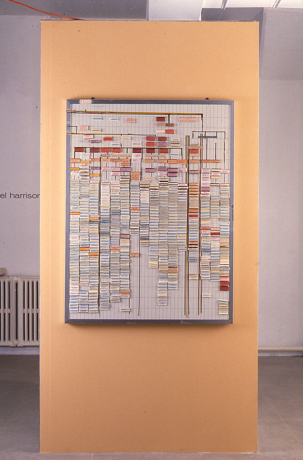 Fegs, 1997, mixed media installation, 48 x 48 x 96 inches
