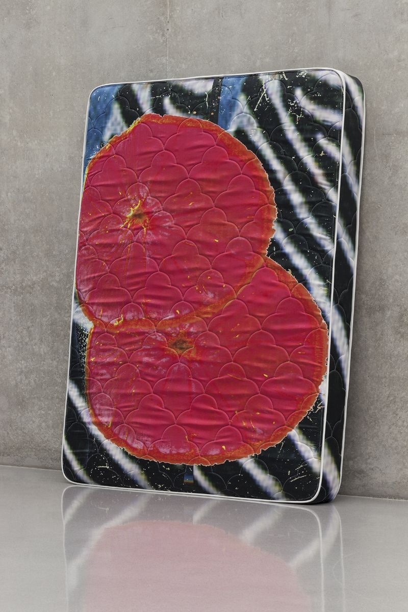 Guyton \ Walker Zebra_Bloodorange_Mattress, 2013 Mattress 80 x 60 x 8 inches (203.2 x 152.4 x 20.3 cm)