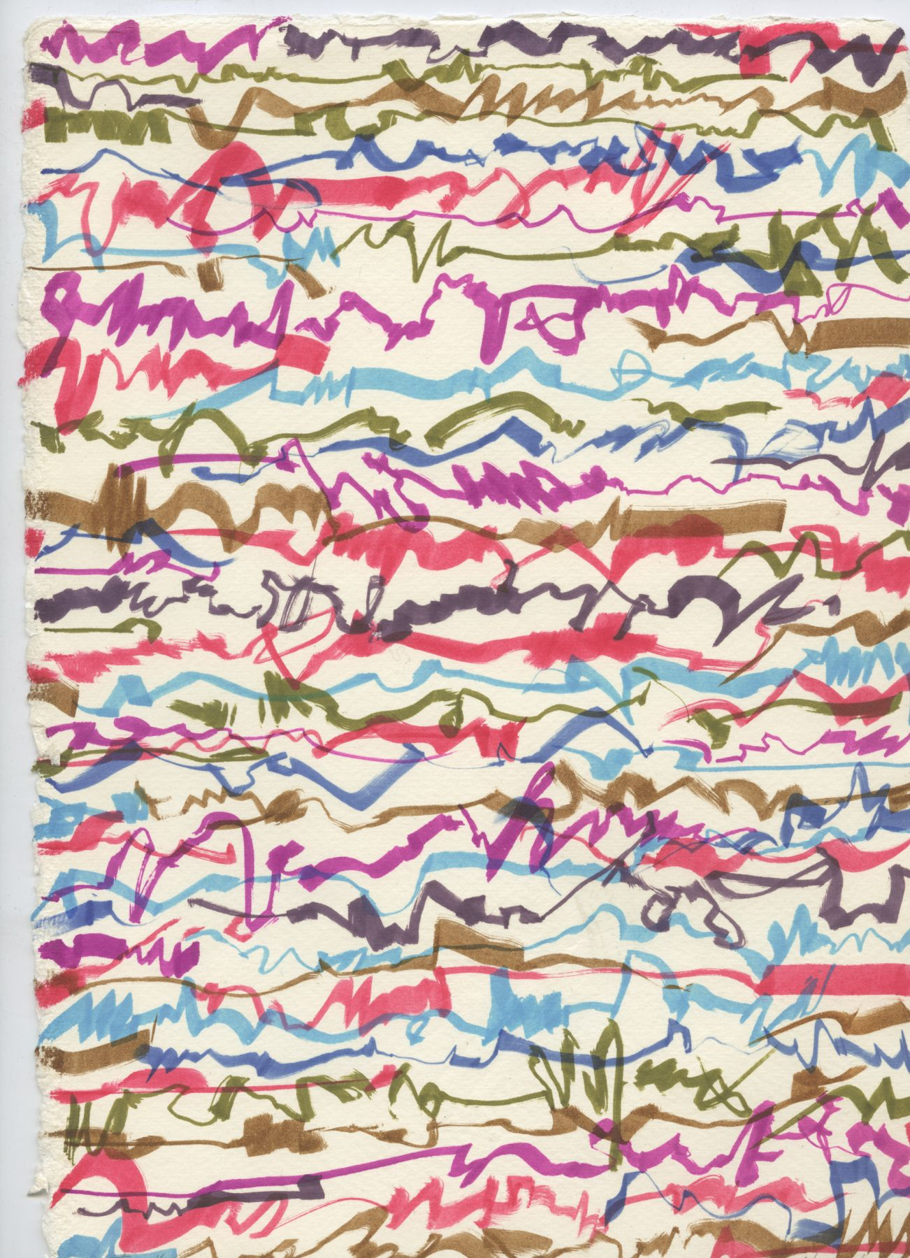 Letter, 1982, colored feltpen on paper, 11 3/4 x 8 3/8 inches