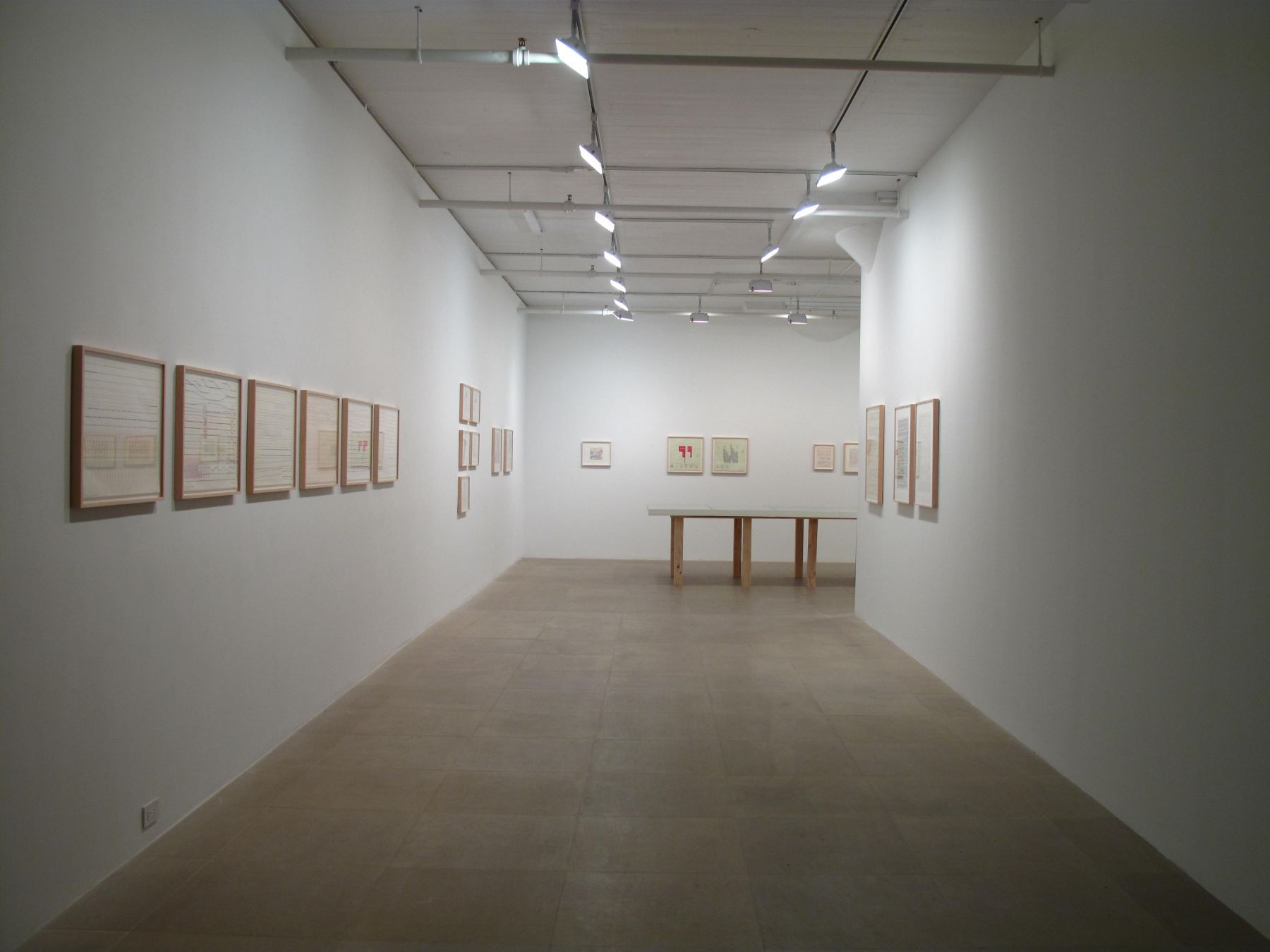 Installation view, Greene Naftali, New York, 2009