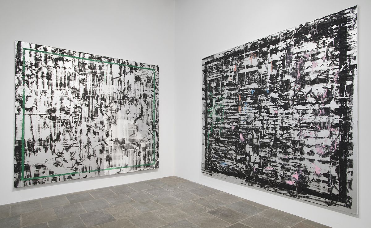 Jacqueline Humphries, Installation view, Whitney Biennial 2014, Whitney Museum of American Art, New York, 2014