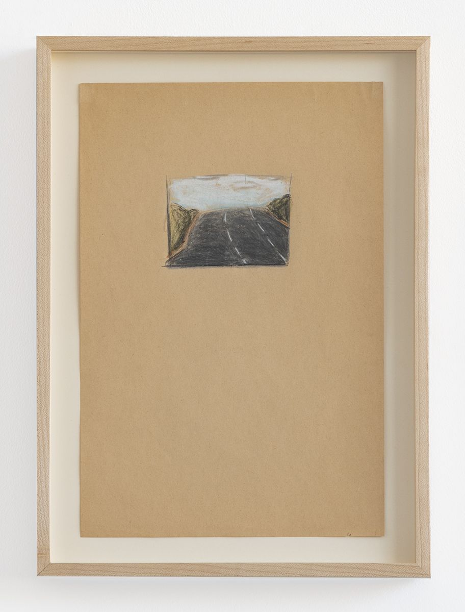 Candy Jernigan, Untitled Landscape, Untitled, n.d.,  Pastel on paper,  Image: 11 3/4 x 7 3/4 inches (29.8 x 19.7 cm),  Frame: 14 x 10 x 1 1/2 inches (35.6 x 25.4 x 3.8 cm)