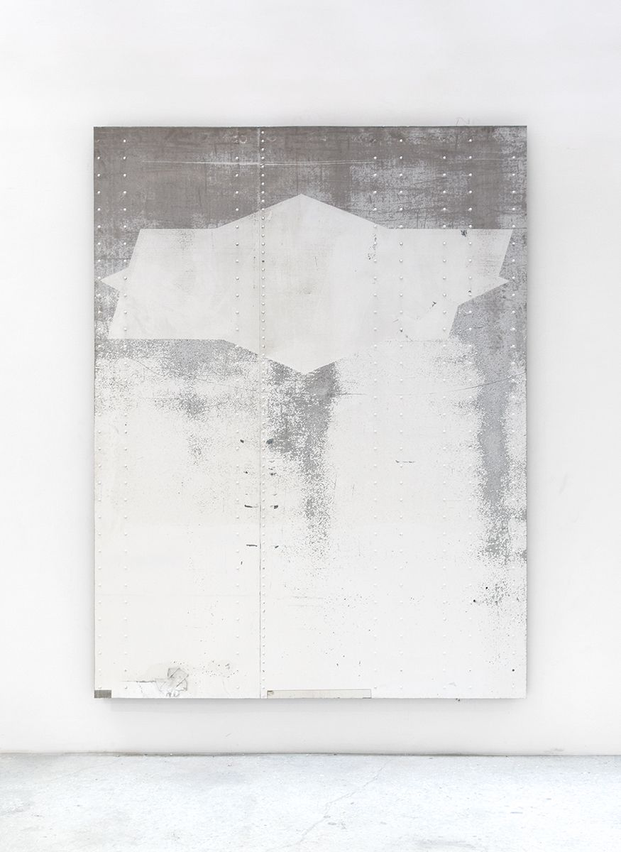 In Procession, 2014, Aluminum semi-trailer, 100 1/2 x 75 1/4 inches