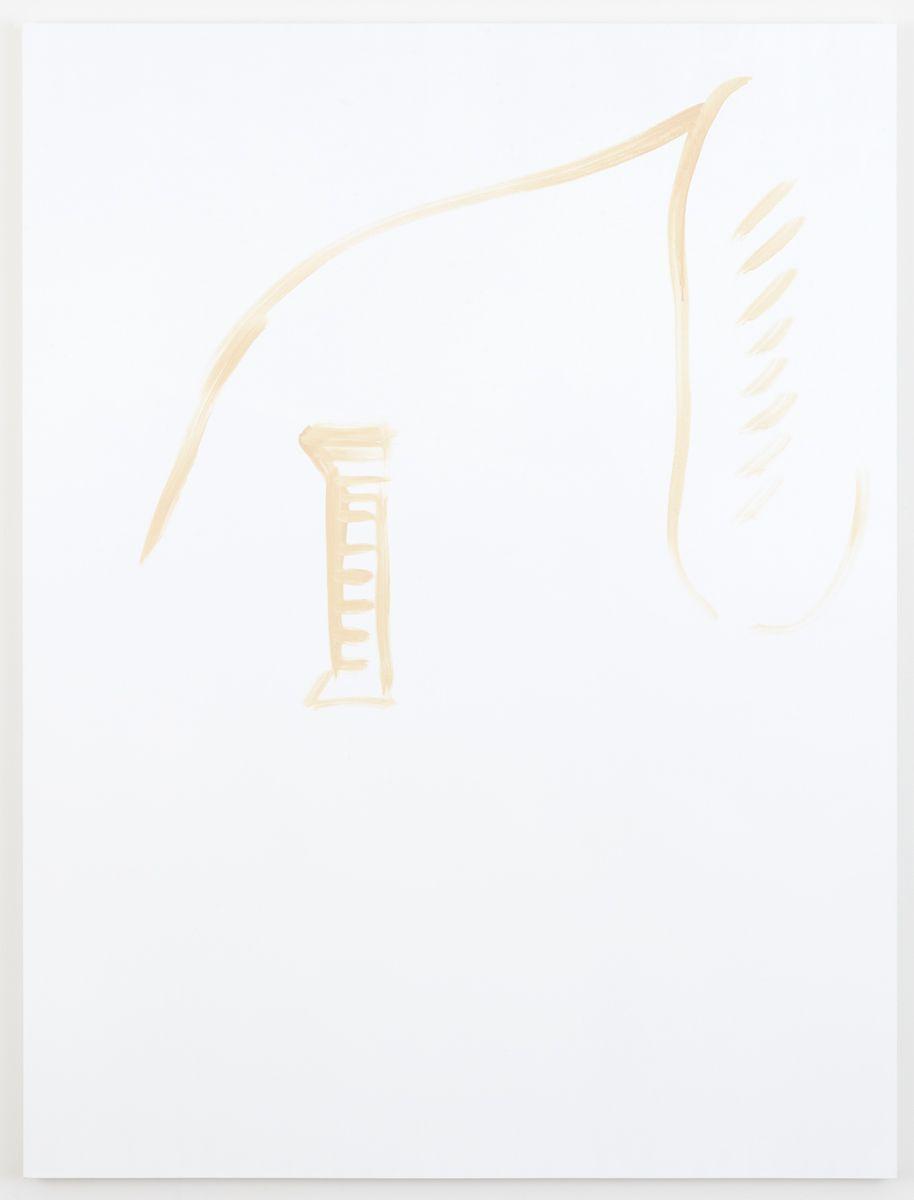 Michael Krebber Herbes de Provence, Gauloises, 2018 Acrylic on canvas 78 x 59 inches (198.1 x 149.9 cm)