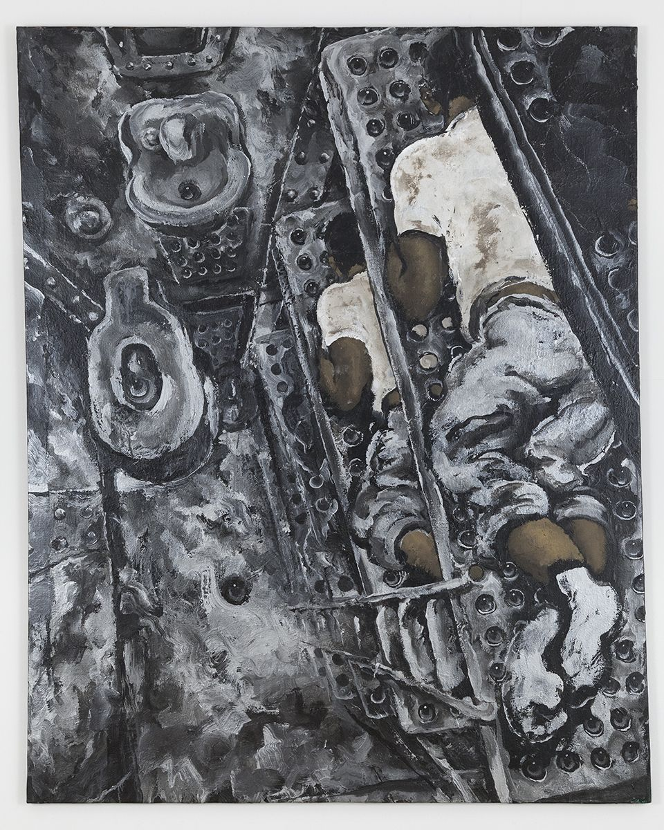 Martin Wong, Prison Bunk Beds, 1992, Acrylic on canvas, 60 x 48 inches (152.4 x 121.9 cm)