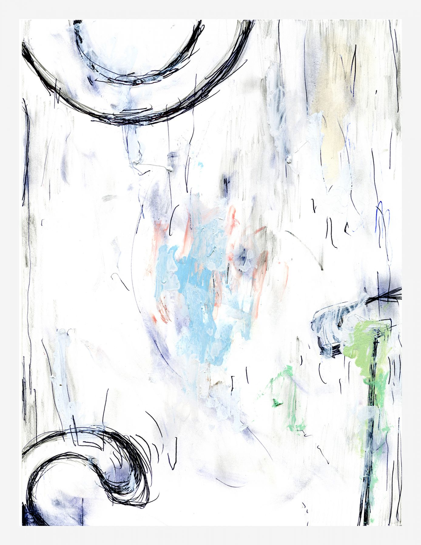 William Pope L. 089, 10-11, o/s, h, A, 2013 Mixed media on paper 12 x 9 inches (30.5 x 22.9 cm)