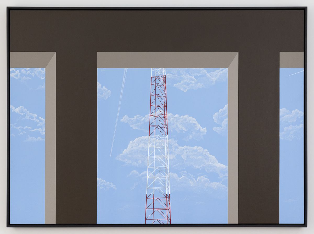 Allan D'Arcangelo  Pi in the Sky, 1981-1982  Acrylic on Canvas  48 x 66 inches (121.9 x 167.6 cm)