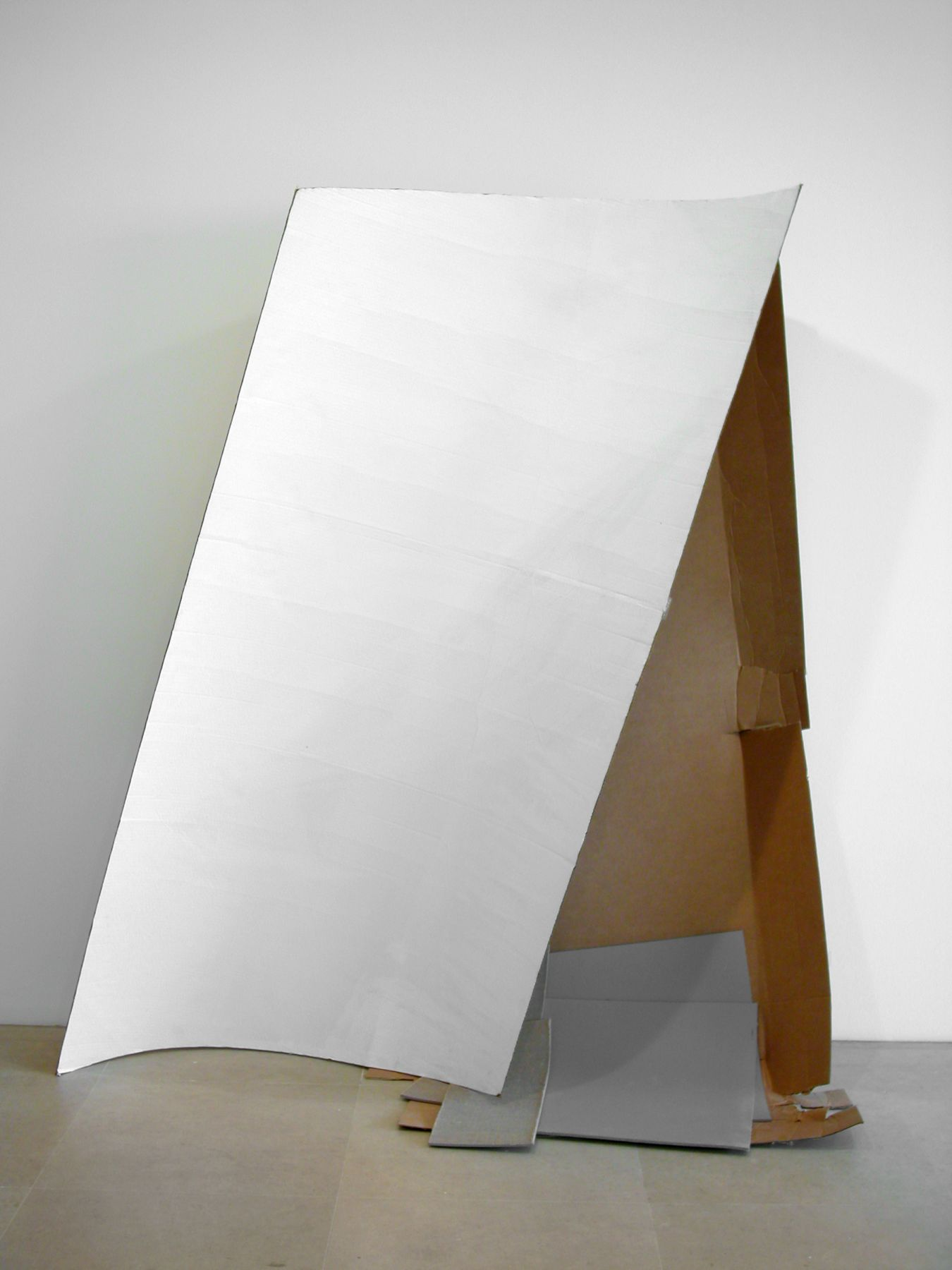 Gedi Sibony, Ultimately Even, 2005-2007, Cardboard, paint, linoleum, 80 x 30 x 74 inches