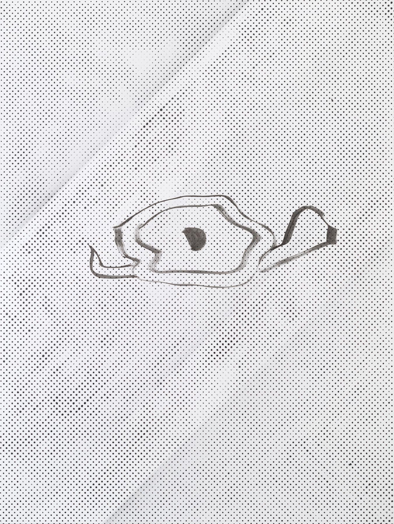 Michael Krebber MK.280, 2015 Lacquer on canvas 78 3/4 x 59 1/8 inches (200 x 150.2 cm)